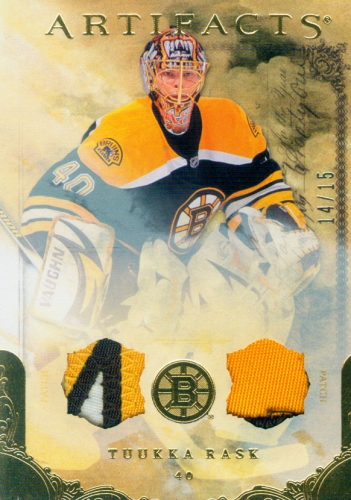 2010-11 Artifacts Patches Gold /15 Tuukka Rask