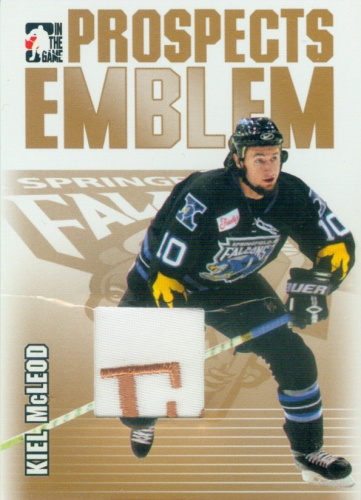 2004-05 ITG Heroes and Prospects Emblems Gold /10 Kiel McLeod