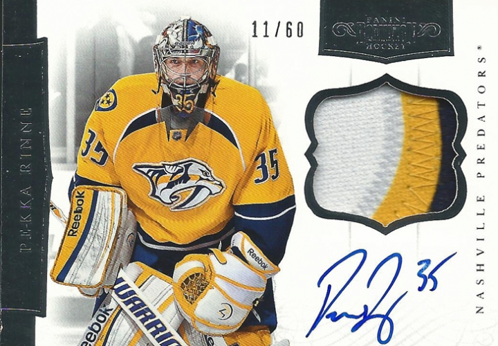 2011-12 Dominion Patches Autographs /60 Pekka Rinne