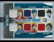 2011-12 ITG SUPERLATIVE COMBOS Fall Red. Enforcers /9 Probert/Williams/O'Reilly/Hunter/Maloney/Schultz