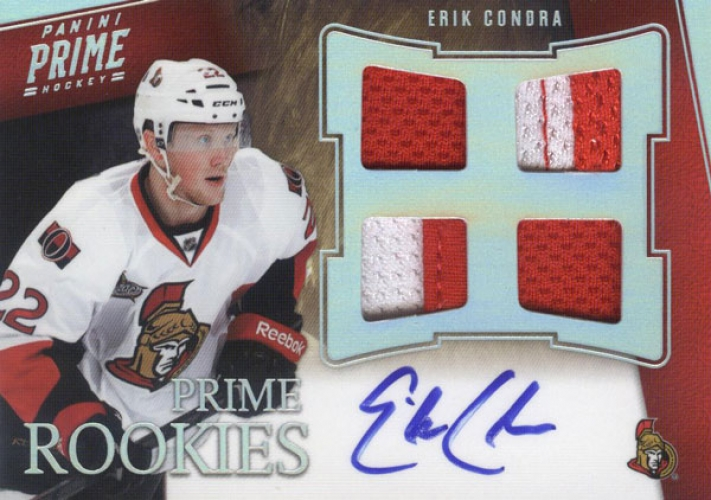 2011-12 Panini Prime Rookies Holosilver Patch Autographs /50 Eric Condra