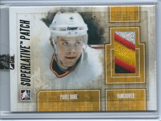 2012-13 ITG Superlative Patches Onyx 1/1 Pavel Bure