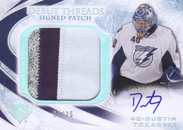 2010-11 Ultimate Collection Debut Threads Patches Autographs /25 Dustin Tokarski