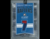 2012-13 ITG Superlative Famous Fabrics Raised to the Rafters Silver /9 Rod Gilbert