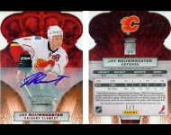 2010-11 Crown Royale Red Signatures 1/1 Jay Bouwmeester