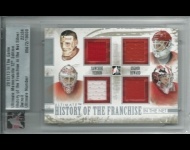 2012-13 ITG Ultimate Memorabilia History of the Franchise In the Net Memorabilia /24 Sawchuk/Osgood/Vernon/Howard