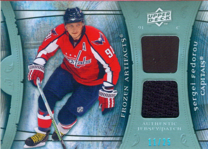 2009-10 Artifacts Frozen Artifacts Jersey-Patch Blue 11/25 Sergei Fedorov