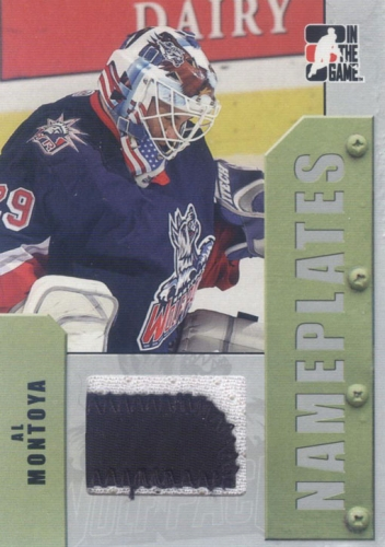 2005-06 ITG Heroes and Prospects Nameplates Al Montoya /20