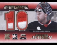 2011-12 Between The Pipes 33rd National Redemption Jersey /10 Craig Anderson
