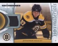 2007-08 Hot Prospects Hot Materials White Hot /10 Jonathan Sigalet