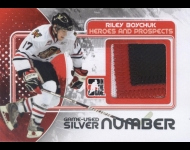 2010-11 ITG Heroes and Prospects Game Used Numbers Silver /3 Riley Boychuk
