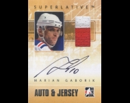 2009-10 ITG Superlative Jerseys Autographs Silver /50 Marian Gaborik