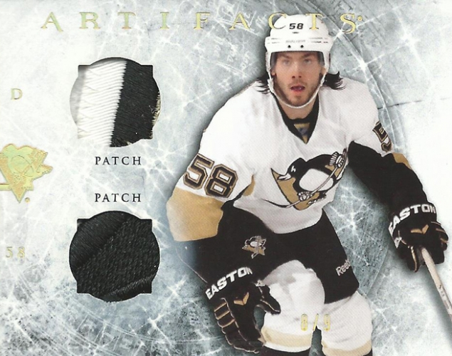 2012-13 Artifacts Horizontal Jerseys Patches Gold Spectrum /9 Kristopher Letang