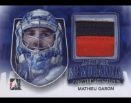 2011-12 Between The Pipes Masked Men IV Memorabilia /10 Mathieu Garon