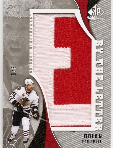 2010-11 SP Game Used By The Letter /8 Brian Campbell
