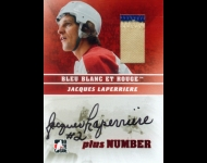 2008-09 ITG Bleu Blanc et Rouge Autographs Plus Number Rouge 1/1 Jacques Laperriere