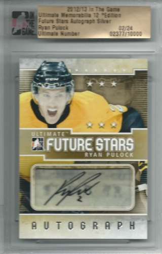 2012-13 ITG Ultimate Future Stars AU /24 Ryan Pulock