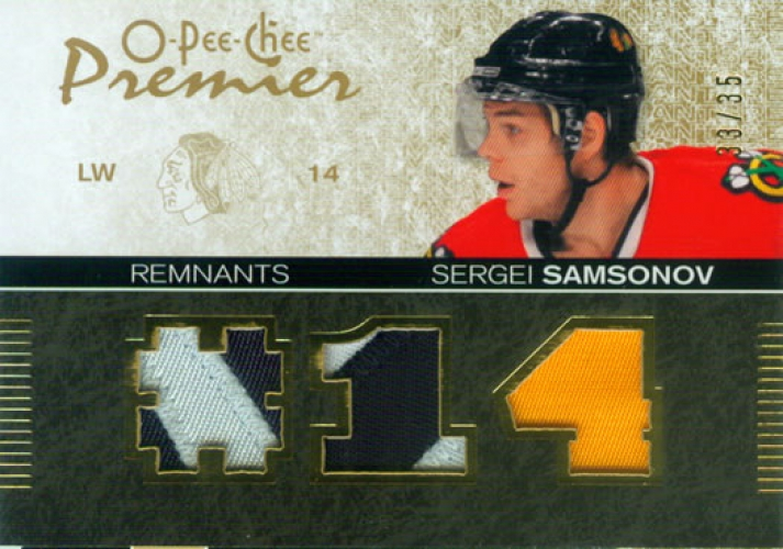 2007-08 OPC Premier Remnants Triples Patches /35  Sergei Samsonov