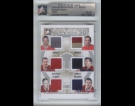 2011-12 ITG Ultimate Memorabilia Decades 1950´Memorabilia /9 Harvey/Lindsay/Beliveau/Lumley/Plante/Richard
