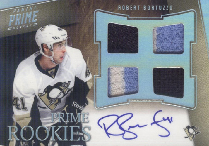 2011-12 Panini Prime Rookies Holosilver Patch Autographs /50 Robert Bortuzzo