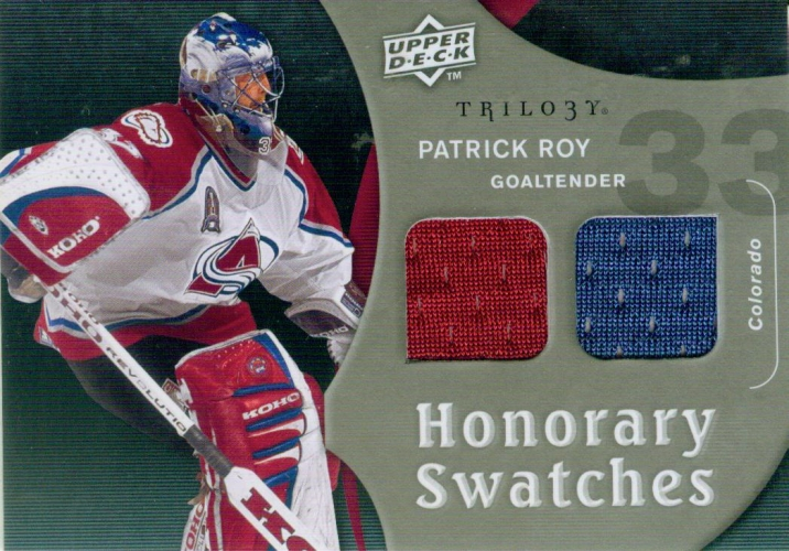 2009-10 Upper Deck Trilogy Honorary Swatches Patrick Roy