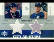 2002-03 UD SuperStars City All-Stars Dual Jersey Gretzky/Giambi