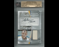 2012-13 ITG Ultimate Memorabilia Goalie Legend Autograph Jerseys /19 Glenn Hall