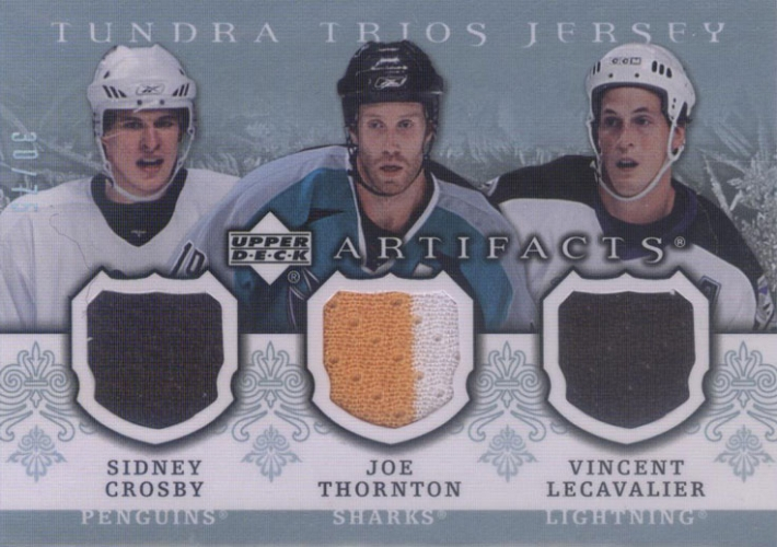 2007-08 Artifacts Tundra Trios Blue /75 Crosby/Thornton/Lecavalier