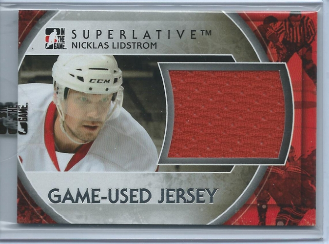 2012-13 ITG Superlative Patches Silver /19 Nicklas Lidstrom,